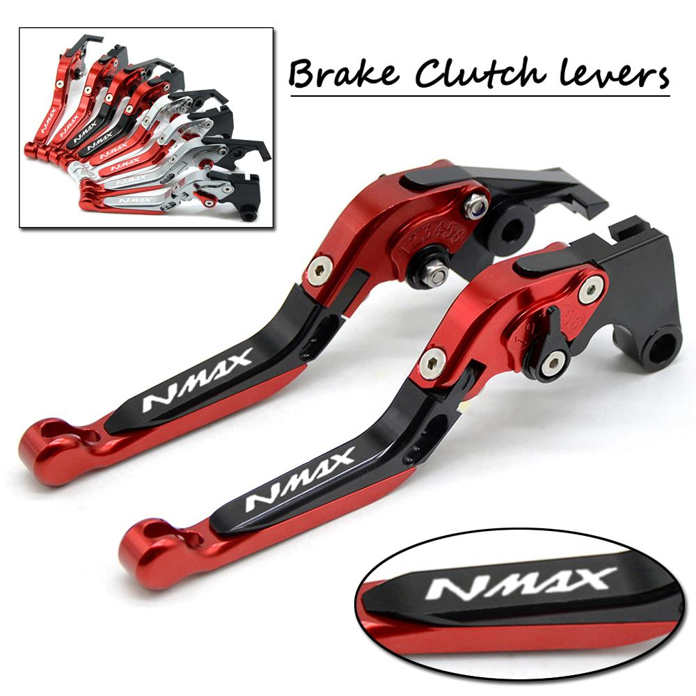 Motorcycle CNC Aluminum Adjustable Folding Extendable Brake Clutch Levers For YAMAHA NMAX155 NMAX125 2015-2017 2016 NMAX 155 125 for honda crf1000l africa twin 2015 2018 foldable extendable clutch brake levers folding extending cnc 2016 2017 adjustable