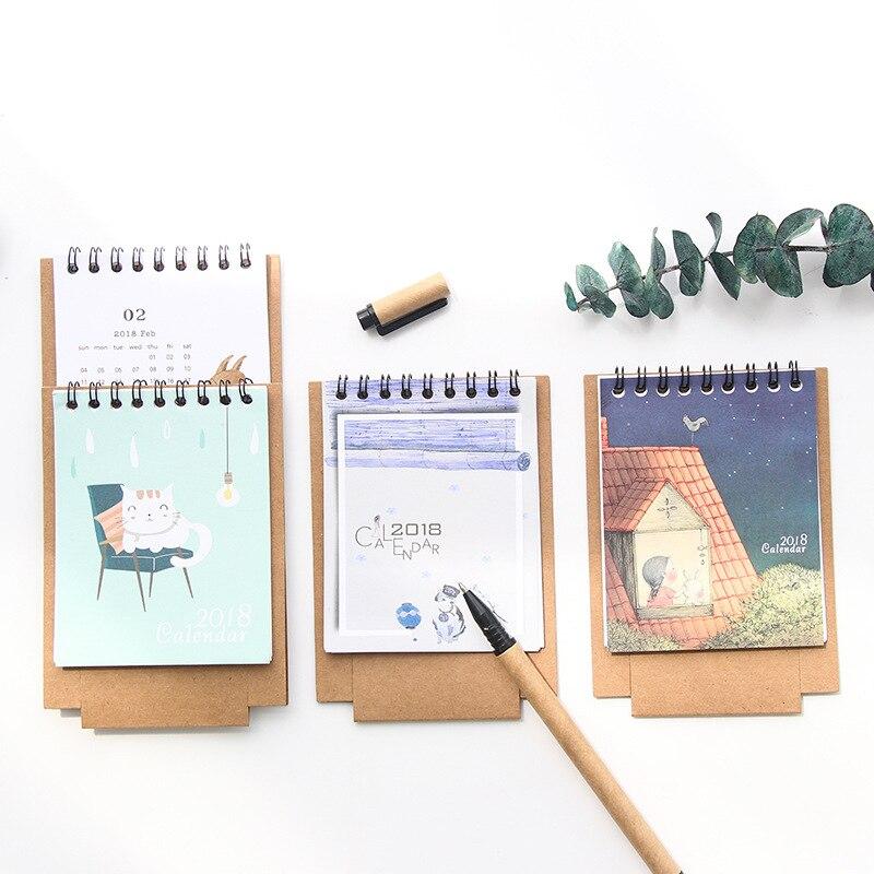 Diy Mini Desk Calendar : Aliexpress buy cute calendar desk diy animals