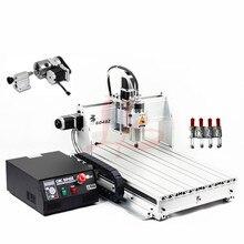 Máquina perforadora de grabado cnc de metal 6040Z, fresadora de madera USB Mach3 con eje VFD de 1,5 kW y pinza de corte, abrazadera de tornillo de perforación