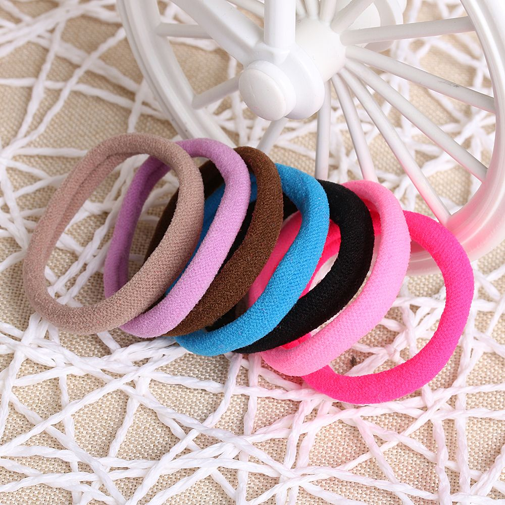 2016 Hot High Quality 10pcs Cute Women Girls Elastic Rope Circle Hairband Candy Color Party Ponytail Holder  Hair Rope Hairband high quality 5pcs set summer girl print elastic hair band cute rubber band knot hair rope women hair accessories ponytail holder