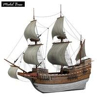 Деревянный корабль модели наборы для взрослых Diy детские развивающие игрушки Масштаб 1/96 Medel корабль дерево 3d лазерная резка Mayflower деревянна
