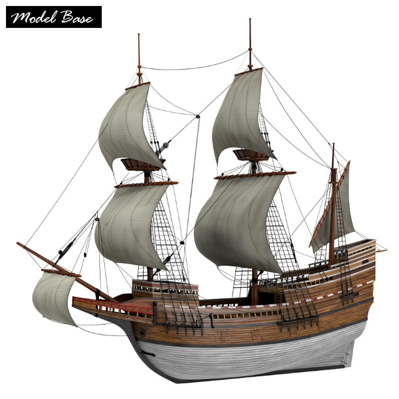 木製船のモデルキット大人のdiy子供知育玩具スケール1/96メデル船木材3dレーザーカットメイフラワー木製 ...