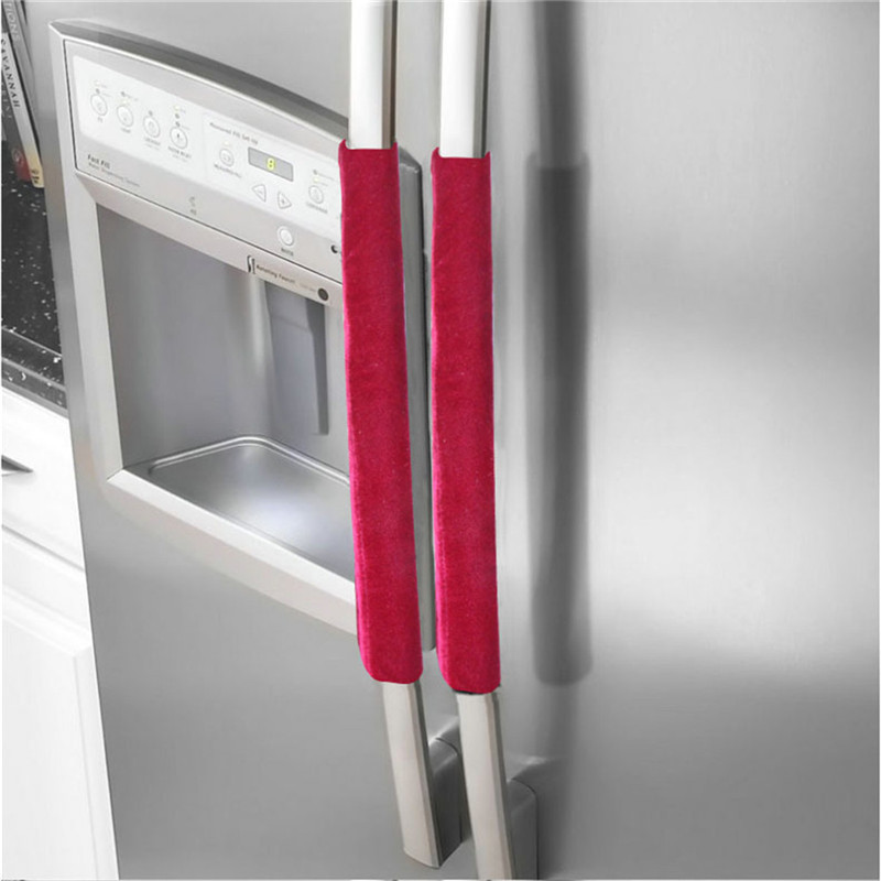 A Pair Refrigerator Handle Cover Kitchen Appliance Refrigerator Cover Kitchen Accessories Dropshipping Decoration For Home