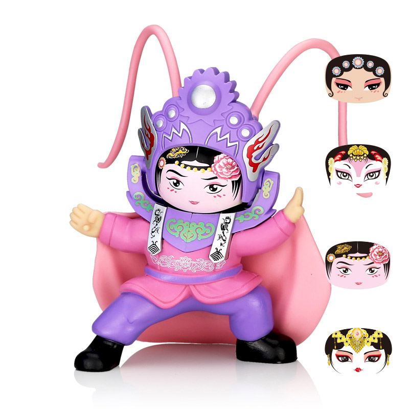 Opera DIY Toys Action Figure Fun Novelty Anime Ornaments Gift BeiJing Traditional Facechanging Doll 4 Faces Peaking
