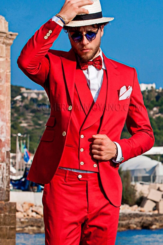2018 Rouge Color Veste Entaillé Costume Bal Pour Pièces Blazer Plage Casual Mesure Fit Revers 3 Custom Mariage Sur Slim Robe Smokings Hommes De Smart CxsdQrth
