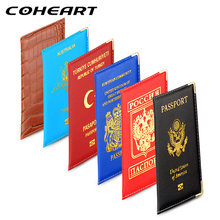 COHEART Brand Passport Cover for most countries Artificial leather Passport Wallet Men Women Passport Bag Thin Wholesale Price !(China)