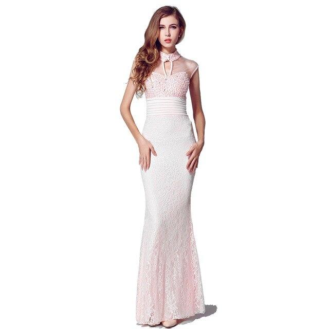 Sexy abendkleider langes kleid elegante spitze bodenlangen mermaid ...