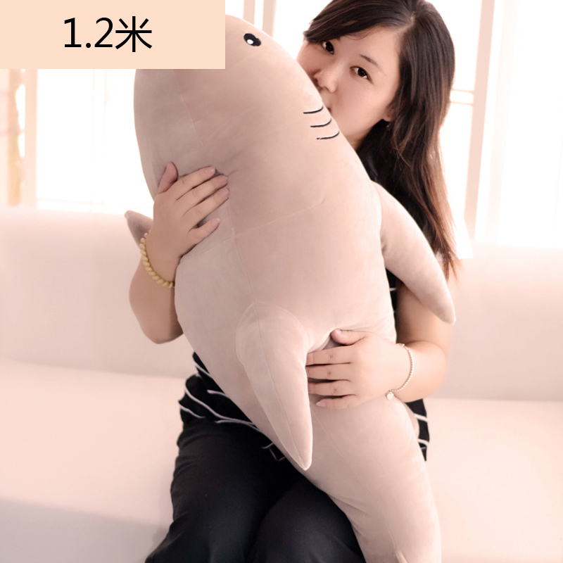 big new creative plush light brown shark toy stuffed soft shark doll gift about 120cm new stuffed light brown squint eyes teddy bear plush 220 cm doll 86 inch toy gift wb8316