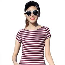 2017 New Arrival Fashion Women Polo Shirts Short Sleeve Striped Slim Cotton Women Turn-Down Collar Summer Tops Cotton Polo Shirt