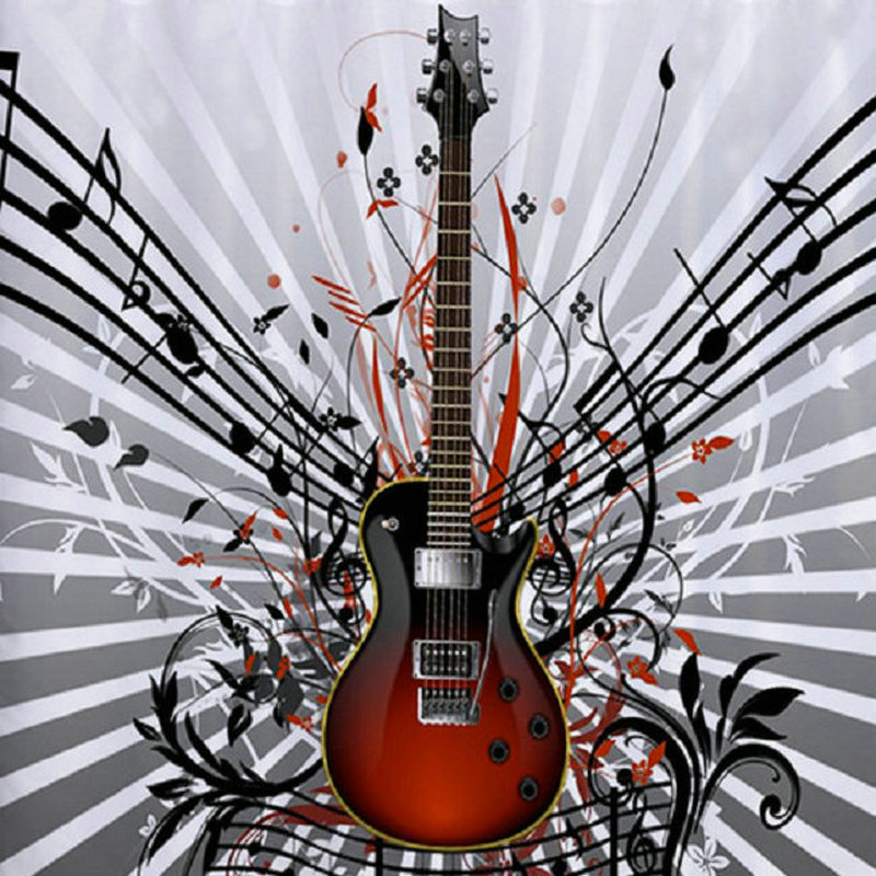 5d diy diamond painting guitar music picture full square drill diamond embroidery full round diamond mosaic 3d wall sticker