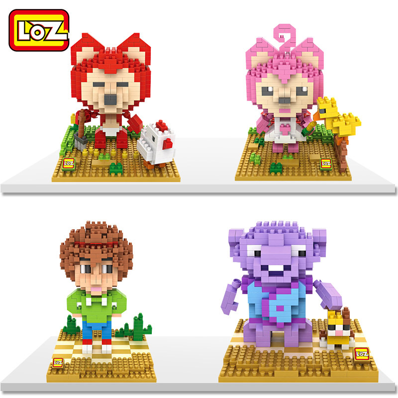 LOZ Peach Ali Character of Home DIY Fight Inserted Assembled Building Blocks Nano Bricks Toys Children Intelligent Toys Gifts puzzle toy building blocks assembled fight inserted toys