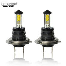 купить 2 PCS 40W H4 LED H7 Car lights 3000lm 6000K CANBUS H1 LED 9005 HB3 9006 HB4 Bulb White H11 Fog Lights For Car Auto Lamps 12V дешево