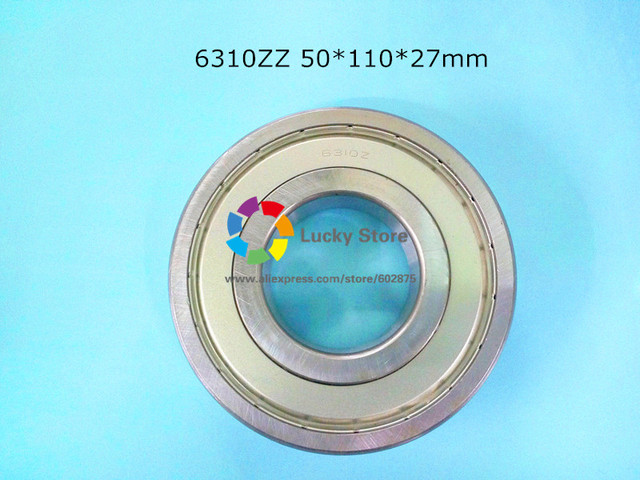 6310ZZ 1Piece bearing free shipping 6310 chrome steel deep groove bearing 6310 50*110*27mm
