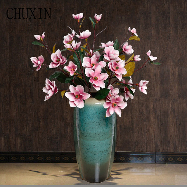 Diy Artificial Eva Foam Magnolia Flowers Decorative Fake Flower