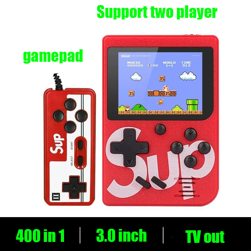 Sup Portable Video Handheld Game Console Retro Classic Mini Game Machine  Built-in 300 Classic Game red without gamepad 2