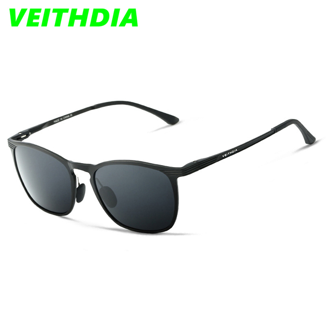 VEITHDIA Unisex Men Retro Aluminum Magnesium Brand Sunglasses Polarized Lens Vintage Eyewear Accessories Sun Glasses Men 6630
