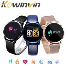 Kowinvin Pedometer Smart Watch Men Women Heart Rate Blood Pressure Oxygen Monitor OLED Screen Bluetooth Sport