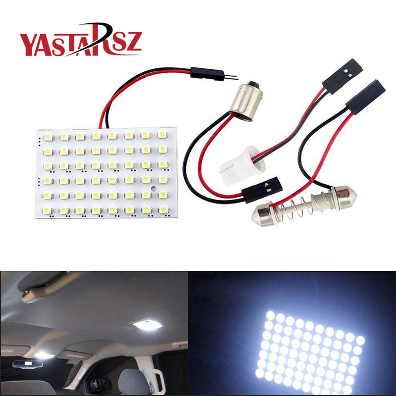 48 LED Auto Car Dome Festoon Interior Bulb Roof Light Lamp with T10 BA9S Festoon Adapter Base Reading light High Quality 48 led auto car dome festoon interior bulb roof light lamp with t10 ba9s festoon adapter base reading light high quality