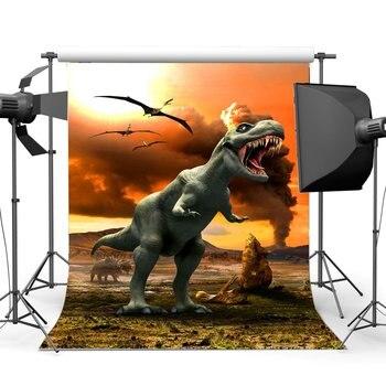 New Dinosaur Backdrop 7X5FT Vinyl Kids Birthday Backdrops Jurassic Period Fairytale Wonderland Jungle Forest Zoo Park Cartoon Photography Background for Boys Birthday Photo Studio Props 263