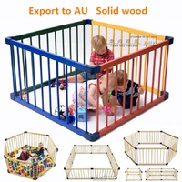 Beightening Solid Wood Baby Toddler Game Fence Child Safety Fence Door