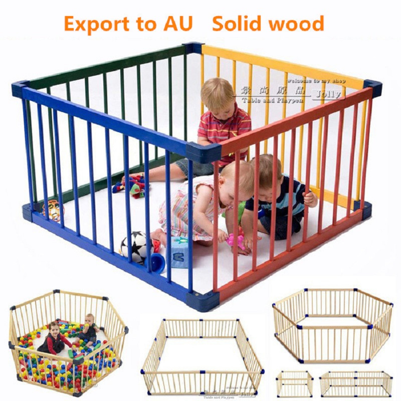 80*61cm 8pcs Solid Wood Baby Toddler Game Fence Child Safety Fence Door Wooden Child Safety Gate Baby Playpens Solid Wood safety 1st ворота безопасности simply pressure wooden gate xl 63 104 см