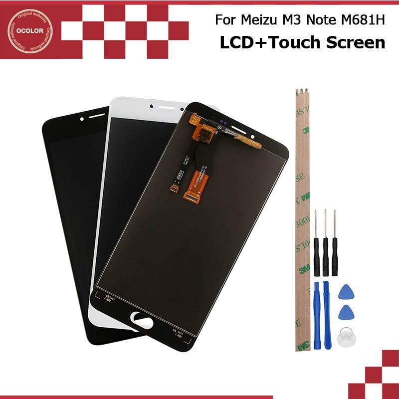 imágenes para Para Meizu M3 Nota M681H Pantalla LCD y Montaje de la Pantalla Táctil reparación Parte 5.5 pulgadas Accesorios Para Meizu M3 Móvil Nota M681H