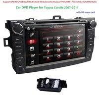 8 Авто Аудио для Toyota Corolla 2007 2011 2DIN автомобиля стерео gps головное устройство DVD плеер Bluetooth SWC MirrorLink DAB + DVBT RDS CAM