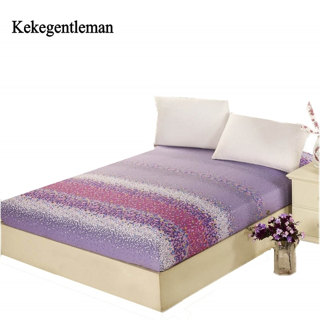 Kekegentleman 100 Cotton Sheets Multicolor Ed Sheet With Rubber Mattress Cover Protector Bedspread Linen