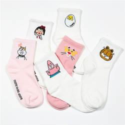 2019 высокое качество милые элегантные милые Kawaii мультфильм Сладкий Harajuku Хлопковые женские носки животные персонаж повседневные короткие
