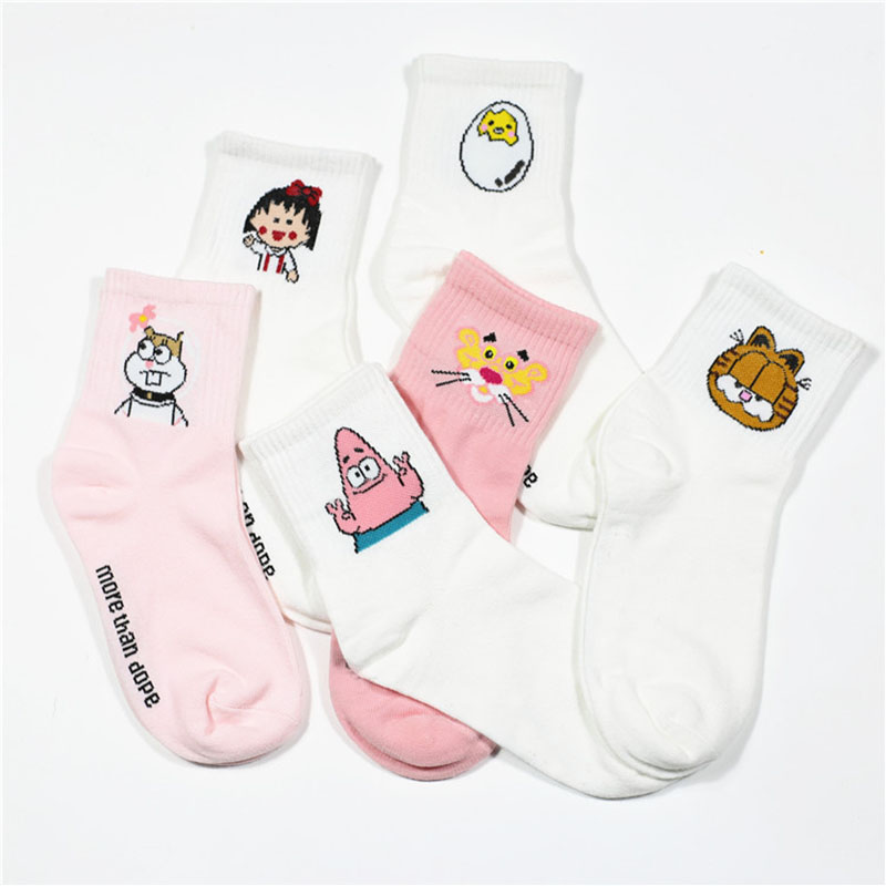 2019 High Quality Cute Elegant Lovely Kawaii Cartoon Sweet Harajuku Cotton Women   Socks   Animals Character Casual Short   Socks   Hot