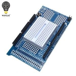 Image 2 - Плата разработки WAVGAT MEGA 2560 R3 Proto для прототипов, плата расширения V3.0 + макетная мини плата PCB на 170 точек связи для arduino «сделай сам»