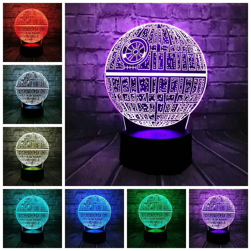 Hot Sale Film Star Wars 3D USB LED-lampa Astro Cartoon Death Star - Nattlampor - Foto 4