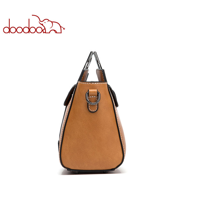 DOODOO Brand Women Handbag Tote Bag Female Shoulder Crossbody Bags Ladies Pu Leather Top-handle Kitten Appearance Messenger Bags