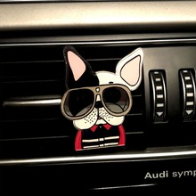 2019 Car Ornament Solid Fragrance Air Conditioner Outlet Clip Perfume Cute Puppy Dog Automobiles Freshener