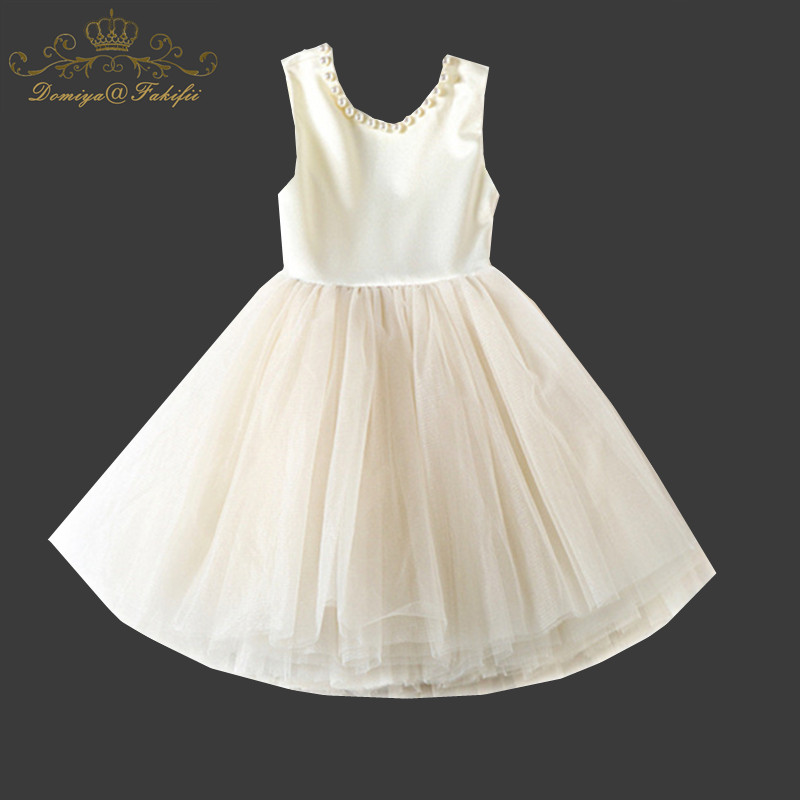 Baby Girls 2018 Summer Dress Lace Pearls Kids Party Dresses Children Clothing Vestidos Princess Unicorn Costume for Girl Clothes
