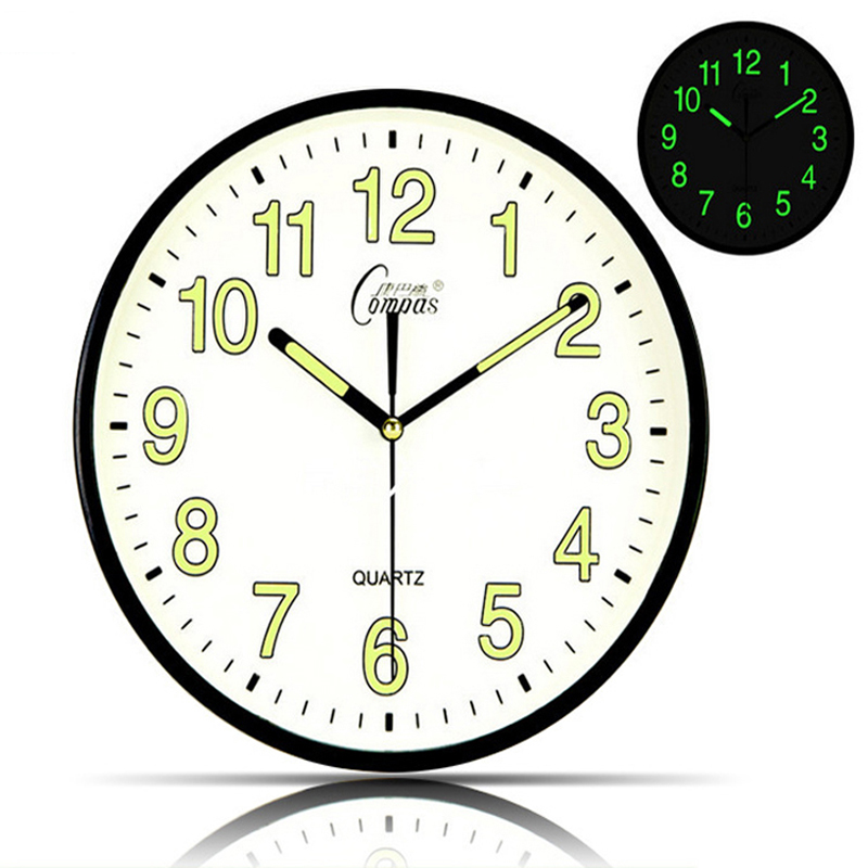 silent round wall clock bedroom living room clock in wall clocks
