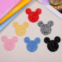 Cartoon Animal Rhinestone  Applique Iron-On Patches For Clothes Bag Cap Fashion Sticker DIY Craft Repair Decoration