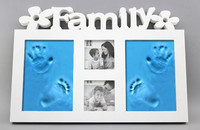 Plastic Or Wood Photo Frame With Soft Clay Imprint DIY Baby Hand Foot Print Hand Footprint