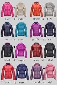 Image 5 - NewBang Brand Down Jackets Women Ultra Light Down Jacket Women Feather Jackets Double Side Reversible Lightweight Warm Coats