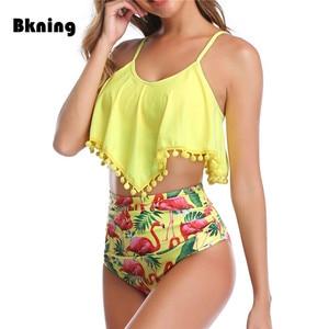 Image 2 - Plus Size Bikini Swimwear High Waisted 2020 Swimming Suit for Women Weist Tankini Swimsuit Large Swim Wear Push Up Bikinis xxl