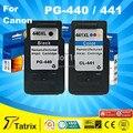 Бесплатная доставка Черный & Цвет Заменяемая Картридж для Canon PG 440 CL 441 для Canon MX394 MX434 MX454 MX524 MG2240 MG3540