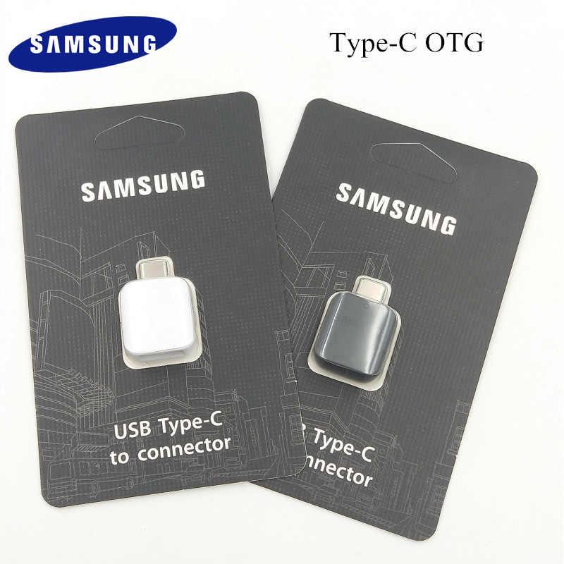 Оригинальный samsung Galaxy S8 S9 + плюс Тип usb-C OTG адаптер флэш-накопитель/клавиатуры/Мышь/U диск конвертер данных для S10 S10E 9 A8 A9