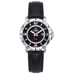 Luxury brand Women's Bracelet Watches fashion black leather ladies quartz wrist watch waterproof CASIMA #5102