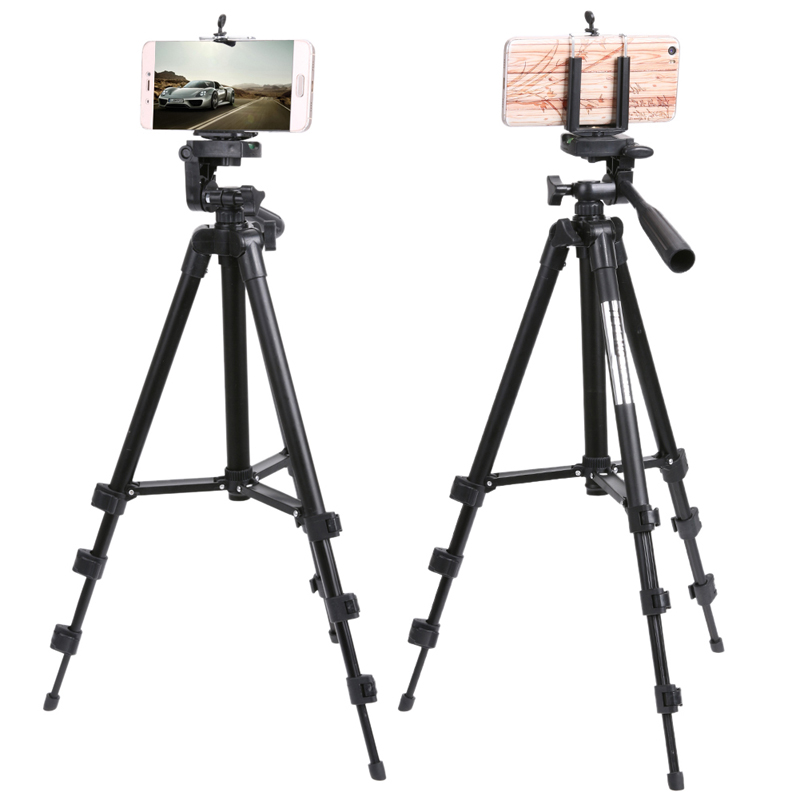 ALLOET Professional Adjustable Camera Tripod Stand Phone Holder For iPhone For Samsung Smart Phone With Cloth Bag Drop Shipping цена 2017