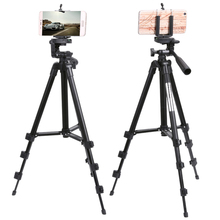 ALLOET Professional Adjustable Camera Tripod Stand Phone Holder For iPhone For Samsung Smart Phone With Cloth