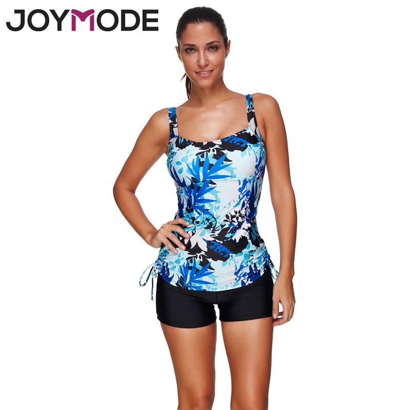 JOYMODE 2017 Conservative Bikini Women Floral Print Swimsuit Tankini Two Piece Suit Women Beachwear For Summer