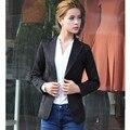 Fashion Jacket Women Suit Foldable Long Sleeves Slim Lapel Coat Candy Color Single Button Vogue