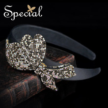 Special New Fashion Bowknot Hair Bands Luxurious Rhinestones Hair Accessories Bridal Statement Jewelry Gifts for Women FS16132