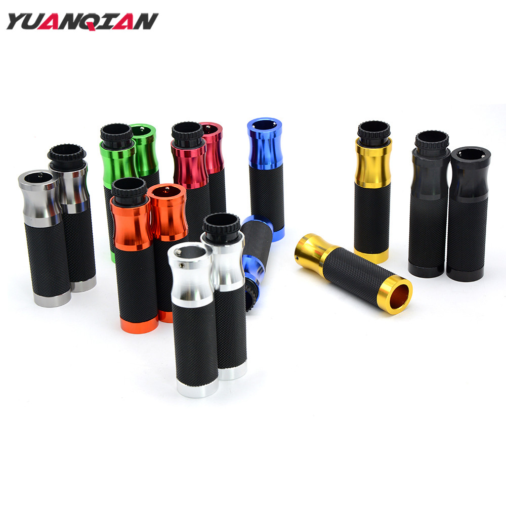 "Universal 7//8/"" Handle Bar End Hand Grips For Yamaha Suzuki Harley Honda Kawasaki"