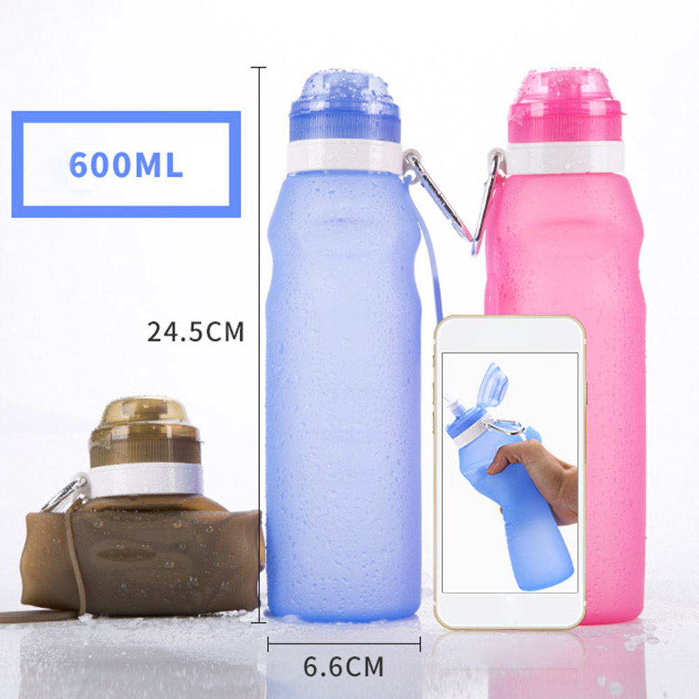 Blue 900ml Stainless Steel Sports Water Bottle Travel Drink For Gym Hiking